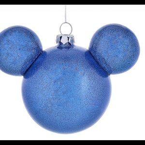 Disney Mickey icon blue glitter ornament